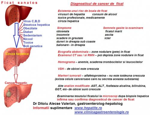 Diagnosticul de cancer hepatic